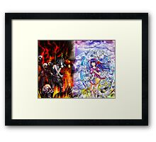 Heaven vs Hell Framed Print