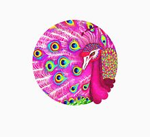 Pink peacock Womens Fitted T-Shirt