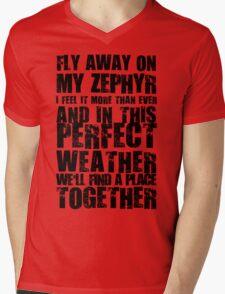 red hot Mens V-Neck T-Shirt