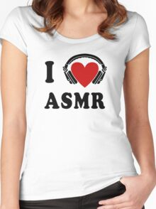 I Love ASMR Women's Fitted Scoop T-Shirt