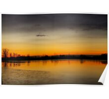 Pella Crossing Ponds Sunrise Poster