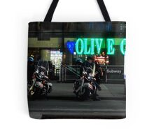 Cops Outside of Olive Garden by the Subway, New York Tote Bag