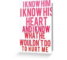 Selena Heart Monologue Greeting Card