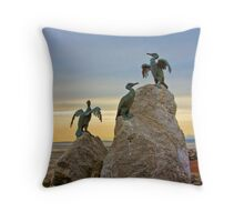 Stone Jetty Statues Throw Pillow