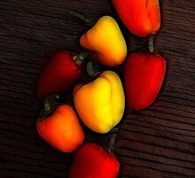 Miniature Pepper Fiesta by Francine Dufour Jones