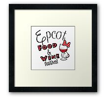 Epcot Food and Wine Festival Minnie Mouse Framed Print