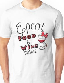 Epcot Food and Wine Festival Minnie Mouse Unisex T-Shirt