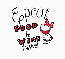 Epcot Food and Wine Festival Minnie Mouse Womens Fitted T-Shirt