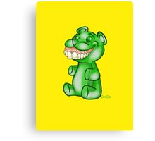 Green Gummy Bear Canvas Print