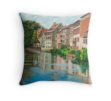 Reflections of Strasbourg Throw Pillow