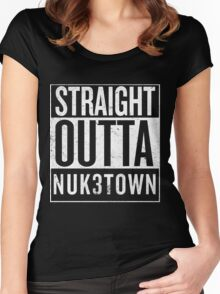 Straight Outta Nuk3town Women's Fitted Scoop T-Shirt