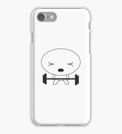 Little guy weight lifting iPhone Case/Skin