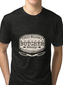 Foggy Nelson's Butcher Shop - Best Ham In Hell's Kitchen  Tri-blend T-Shirt