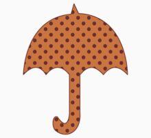 Rust Polka Dots One Piece - Long Sleeve