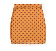 Rust Polka Dots Pencil Skirt