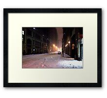 Vanishing Point Midtown Framed Print