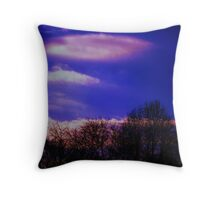 Azure y Rosa Throw Pillow