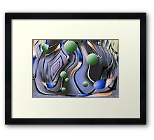 Rain in the City Framed Print