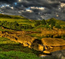 Glen Finglas in evening light by Gabor Pozsgai