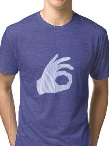 Holographic Ok Emoji Hand Tri-blend T-Shirt