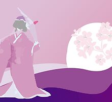 Origami Princess Moon by imagerially