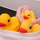 """""""All Wrapped Up"""" - rubber duckies in bathroom by ArtThatSmiles"""