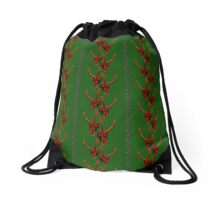 Season's Greetings from the Krampus (tiled pattern) Drawstring Bag
