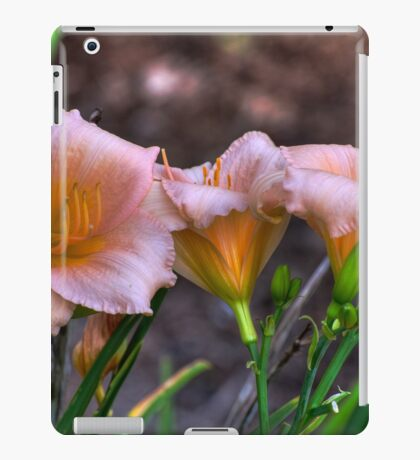 Peach Lillies iPad Case/Skin