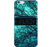 Halsey Logo With Turqoise Tree Background iPhone Case/Skin