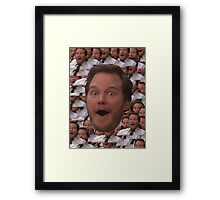 Parks and Rec - Chris Pratt Face Framed Print
