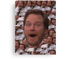 Parks and Rec - Chris Pratt Face Canvas Print
