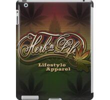 "Herb-n-Life ""Rasta"" Logo iPad Case/Skin"