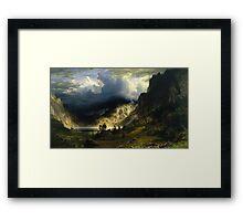 A Storm in the Rocky Mountains - Albert Bierstadt Framed Print