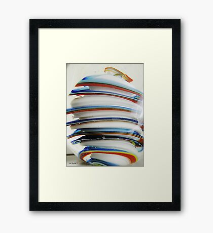 Stacks Of Colour Framed Print