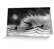 The Black Storm Greeting Card