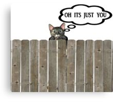 cat on fence Canvas Print