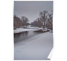 Meandering River in Winter Poster
