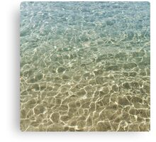 Stone-flagged water(2009) Canvas Print