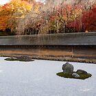 Japanese Rock garden, Ryoan-ji  (2) ,KYOTO by yoshiaki nagashima