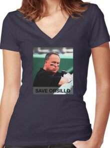 Save Don Orsillo Women's Fitted V-Neck T-Shirt