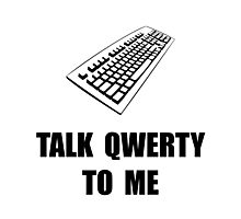 Talk QWERTY Photographic Print