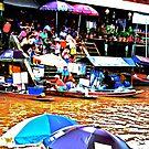 Floating Market: Thailand by Kornrawiee