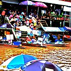 Floating Market: Thailand by Kornrawiee