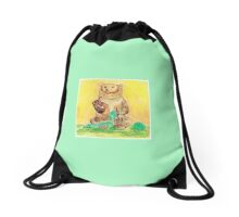 Anna Bear Knits Drawstring Bag