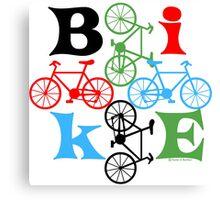 Four Bikes Canvas Print