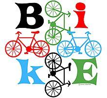 Four Bikes Photographic Print