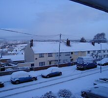 Snow covered Newton Abbot by mike421