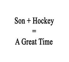 Son + Hockey = A Great Time  by supernova23