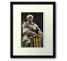 Suit of Armour at Dean castle Framed Print