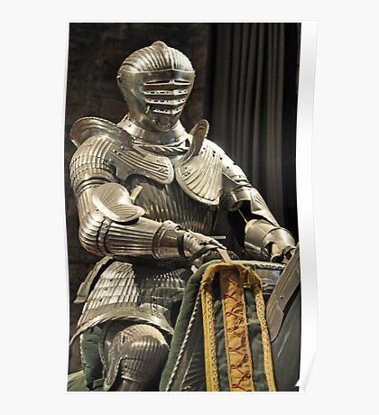Suit of Armour at Dean castle Poster
